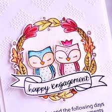 happy engagement card moccavanila by vera rhuhay happy engagement card