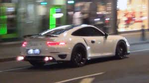 porsche 911 turbo sound 900hp porsche 991 turbo s flames and sounds