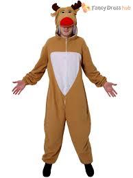 fancy christmas adults reindeer costume mens christmas fancy dress rudolph