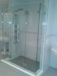 bathroom neo angle shower doors seamless glass shower cost wide