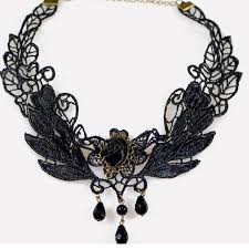 bead lace necklace images Buy gothic vintage black lace flower choker jpg