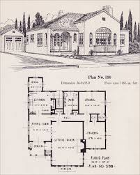 Colonial Revival House Plans Spanish Revival Style Home 1926 Universal Plan Service No 543
