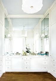 Mirror Wall In Bathroom Frameless Bathroom Wall Mirrors View Size Bathroom
