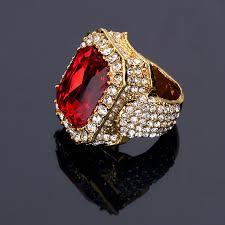 aliexpress buy nyuk gold rings bling gem online shop nyuk women men bling simulated hip hop gold