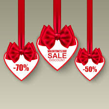 s day clearance s day collection heart sale tag with bows stock vector