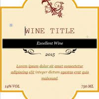 free printable wine labels with photo excel tmp