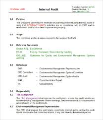 audit format sample audit program 585447 audit plan template