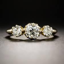 three stone engagement rings 18k victorian three stone diamond engagement ring vintage