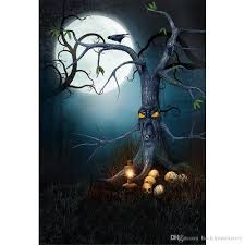 2017 full moon night photography backdrops halloween forest old