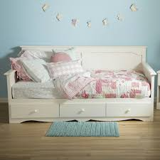 Bing Rooms To Go Bedroom Furniture Twin Size Twin Size Country Style White Wood Daybed With 3 Storage Drawers