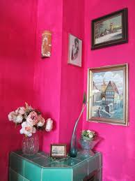 strangeness and charms room tour a pink coloured living room