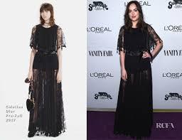 Vanity Fair Clothing Company Dakota Johnson In Christian Dior Vanity Fair Young Hollywood