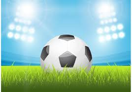 free shiny soccer ball in stadium vector download free vector