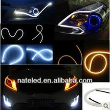 Auto Led Light Strips Auto Acessories Tear Led Light Guide Effect Double Color Soft