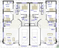 2 x 3 bedroom duplex design australian kit homes steel framed