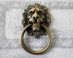 antique lion ring holder images Lion head handles etsy jpg