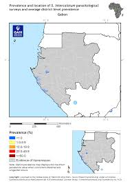Gabon Map Distribution Of S Intercalatum Survey Data In Gabon Global