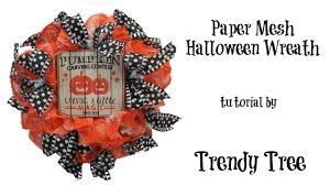 2017 paper mesh halloween wreath tutorial by trendy tree youtube