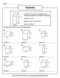 5th grade math volume worksheets photocito