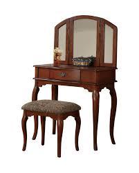 Dressing Table Sets Vintage Vanity Table Vintage Makeup Dresser Stool Bench Mirror Wood