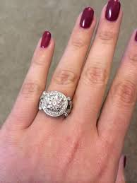 3 carat ring 2 to 3 carat rings on size 7 to 8 fingers weddingbee pic 3