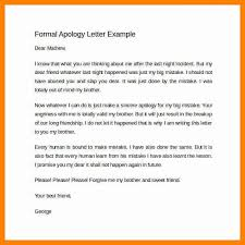 doc 585585 formal apology letter example u2013 apology letter