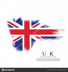 England Flag Colors British Flag Made In Brush Stroke U2014 Stock Vector Igor Vkv 137120446