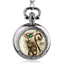 necklace with watch pendant images Vintage silver steampunk cat locket necklace pocket watch pendant jpg