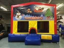 party rentals michigan 15x15 christmas moonwalk santa sleigh bounce house