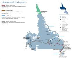 Map Of Canada Provinces by Labrador Scenic Driving Routes Map