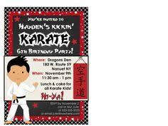 karate invitation karate invitation for by cakesandkidsdesigns