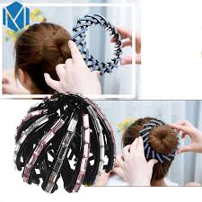 bun accessories mism 2017 new rhinestone hair accessories women donut bun