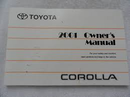 2001 toyota corolla owners manual toyota amazon com books