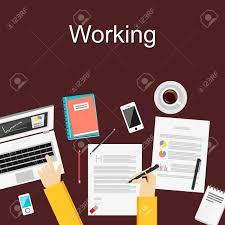 design management careers flat design illustration concepts for working study hard management
