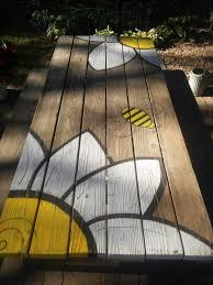 Plans For Building A Children S Picnic Table by Painted Picnic Table Diy Backyard Stuff Pinterest Painted
