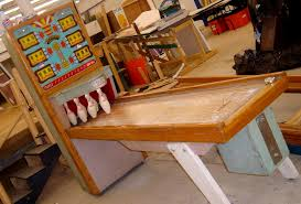 Antique Shuffleboard Table For Sale United Chicago Coin Bally Ball Bowler Bowling Machine Shuffle