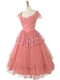 pink embroidered wedding dress 50s coral pink tulle tea length dress 50 s prom wedding dresses