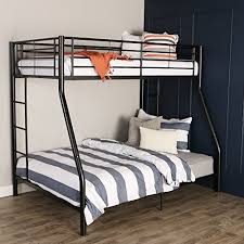 Sturdy Metal TwinoverDouble Bunk Bed In Black Finish Desertcart - Double double bunk bed
