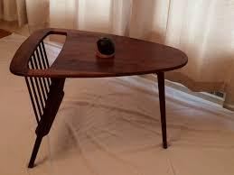 table u0026 magazine rack arthur umanoff 3 leg design by