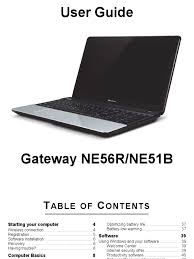 gateway ne56r ne51b user guide manual secure digital