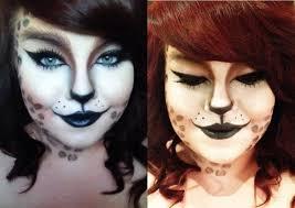 halloween kitty face cat face makeup for halloween kitty cat halloween makeup tutorial