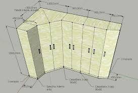 armadio angolare misure gallery of forum layout da letto armadio ad angolo con