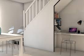 am駭agement bureau sous escalier téva déco un duplex contemporain design aventure déco