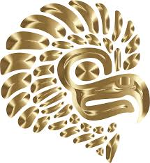 clipart prismatic stylized mexican eagle silhouette 7