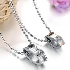 couple chain necklace images Oval shape pendant quot love you till the end quot couple necklace jpg