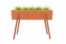 danish mid century modern angular teak planter ebay