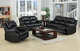 2 Seater Reclining Leather Sofa Valencia Black Recliner Leather Sofa Suite 3 2 Seater Recliner