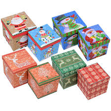 gift boxes christmas bulk christmas house assorted gift boxes at dollartree