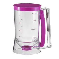 amazon com collections etc cake batter dispenser with measuring