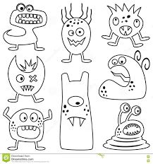 halloween white background coloring halloween monsters for kids stock vector image 77077908